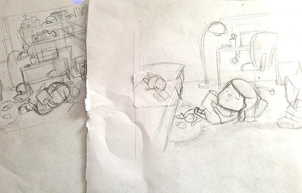 bocetos habitacion