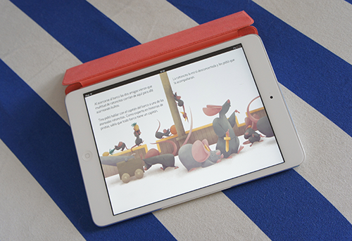 iPad muestra ilustracion infantil Basta de reglas de Nice Tales