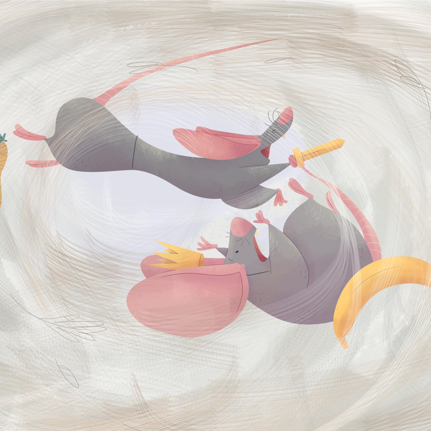 ilustracion infantil raton remolino viento nice tales