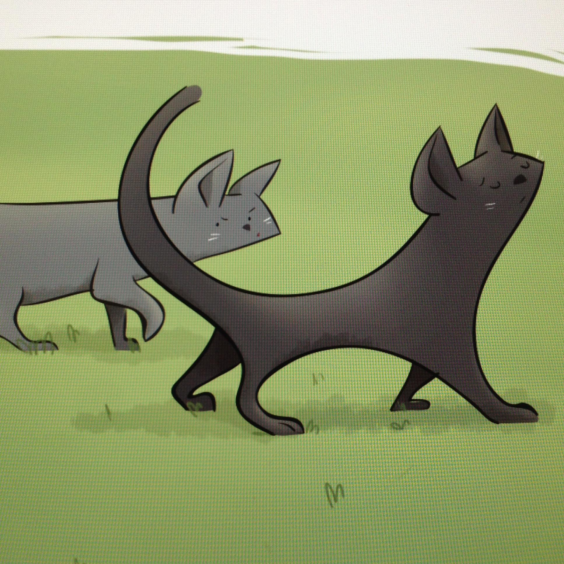 Gatos antipáticos en ilustración infantil por Ester Garay