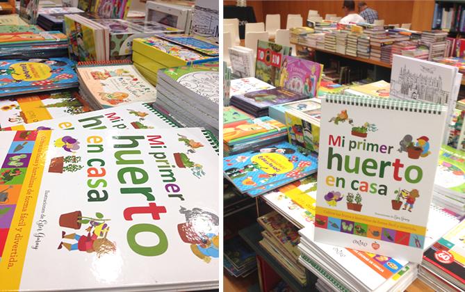 libreria mi primer huerto en casa ilustracion infantil libro huerto urbano Children book urban garden kids illustration bookstore
