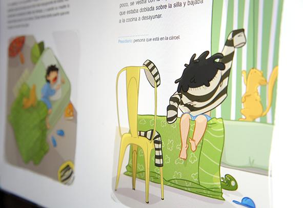ilustración libro de texto milhojas anaya oscar prisionero infantil 2º primaria childrenbook illustration educational book prisoner illustrator ilustrador ilustradora