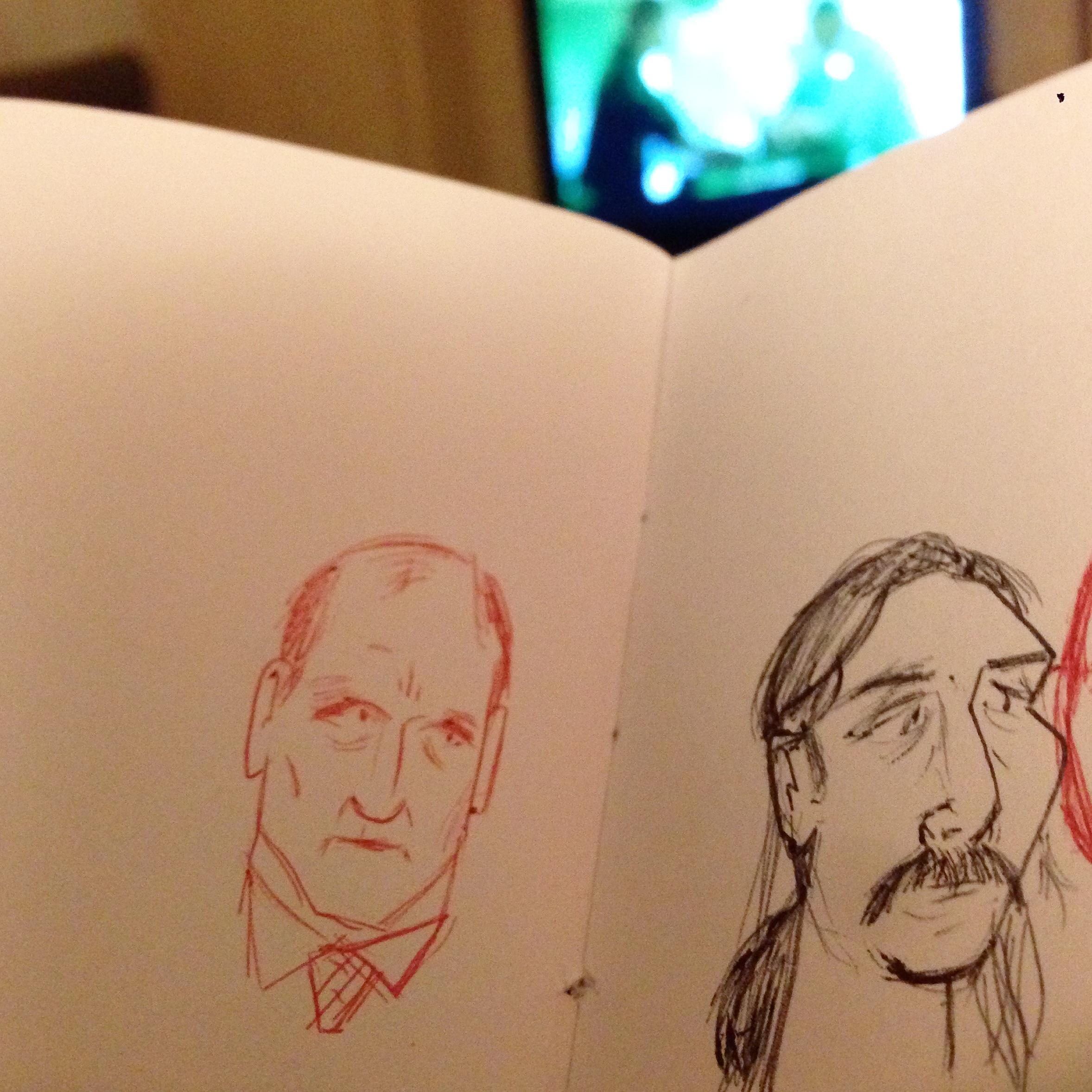 sketchbook sketch boceto cuaderno dibujo doodle garabato urban sketcher woody harrelson matthew mcconaughey true detective tv serie gripe flu