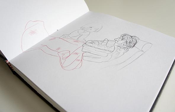 gripe flu mom mami casa home  sketch boceto sketchbook tiger dibujo drawing life drawing  doodle garabato