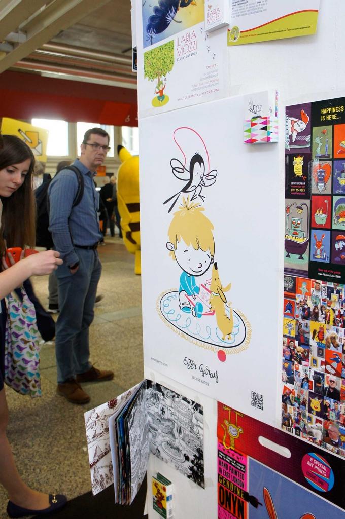 Bologna Children's Book Fair illustration illustrator world Feria libro infantil Bolonia ilustradores ilustración infantil illustrators wall muro ilustradores  selfpromotion autopromoción merchandising marketing