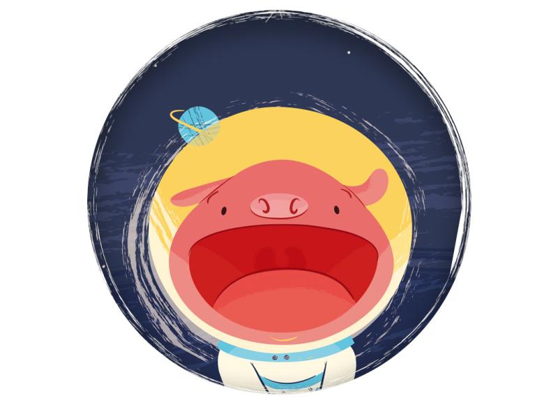 children's book illustration personal ilustración infantil cerdo pig