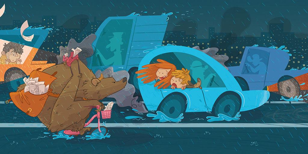ilustratour premio plum pudding grizzly bear ganadora 2015 maverick ilustración final illustration children's book