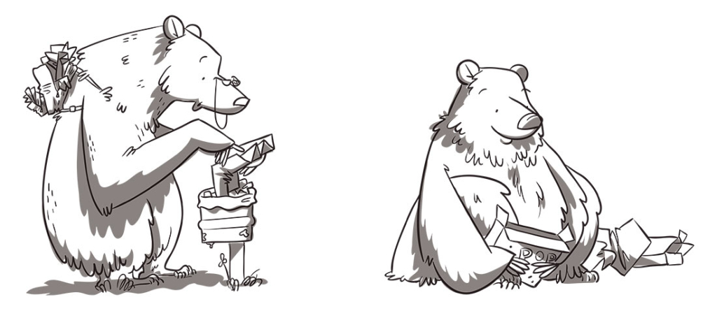 ilustratour premio plum pudding grizzly bear ganadora 2015 maverick sketch animal oso garabato doodle sketchbook character design