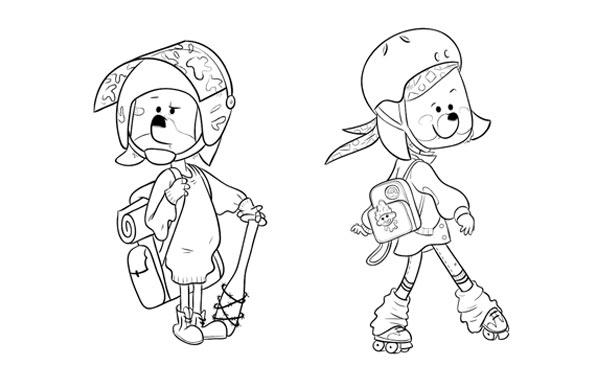 seeway logo diseño grafico diseño de personajes lapendeja nuria aparicio character design barcelona red riding hood wolf caperucita roja ilustración infantil children's book illustration