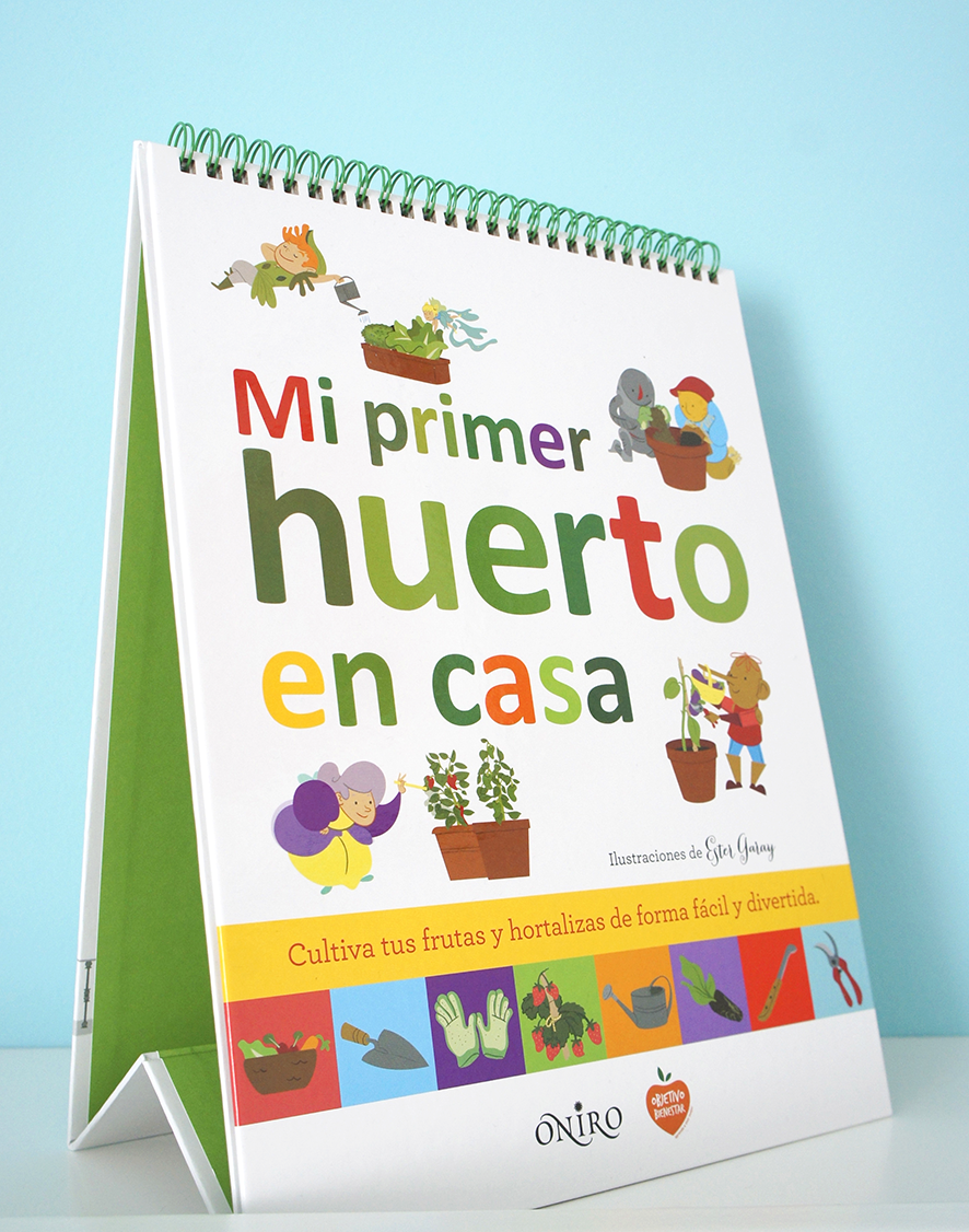 Mi primer huerto en casa portada libro infantil urbano ilustración Children book illustration urban garden