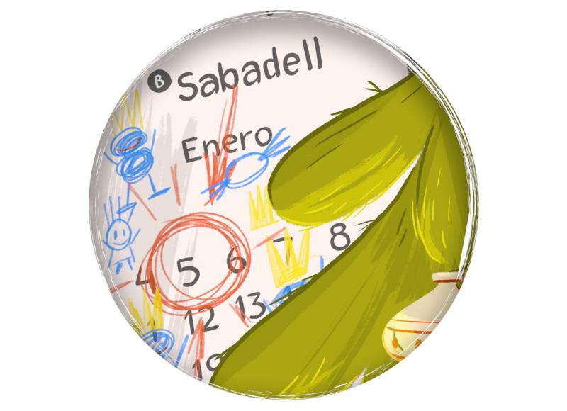 Banc Sabadell Banco Sabadell animación 2D Cazacaramelos ilustración infantil animation children illustration xmas Navidad Christmas