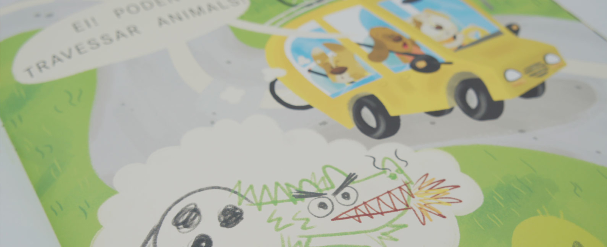 ilustracion infantil libro educacion vial familia perros barcanova bosc de colors children's book illustration bike bycicle bici bicicleta animales animals